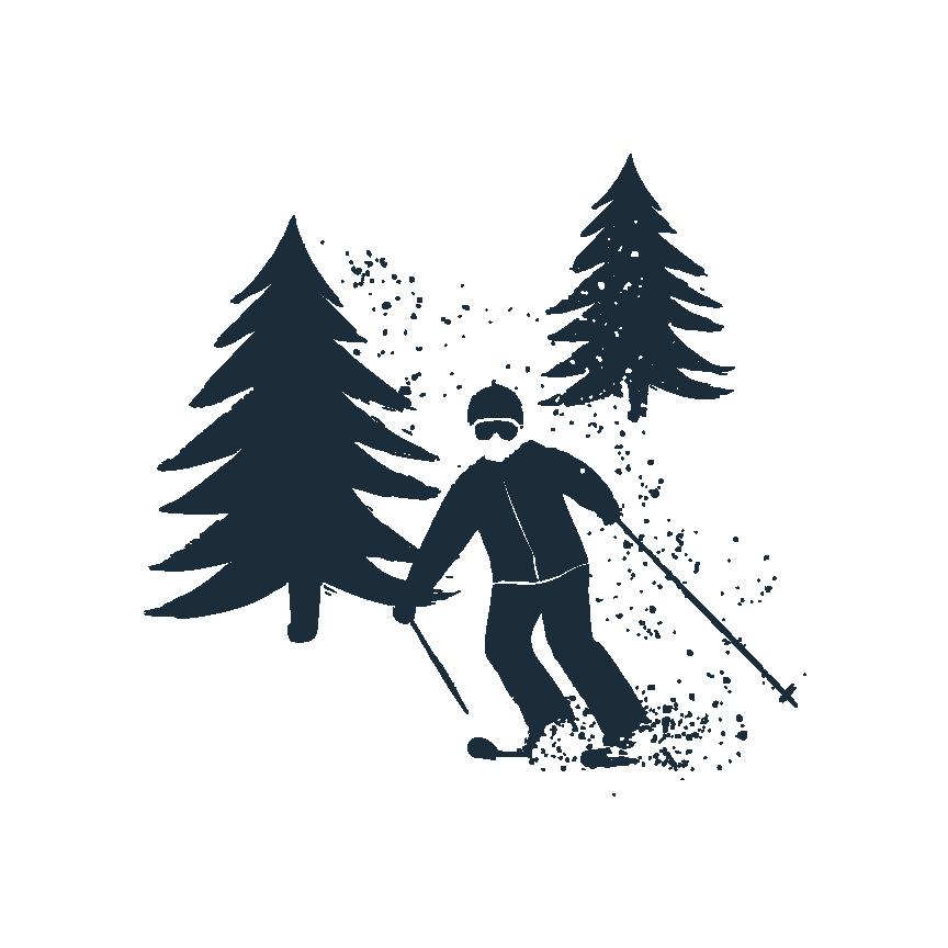 Skier in trees