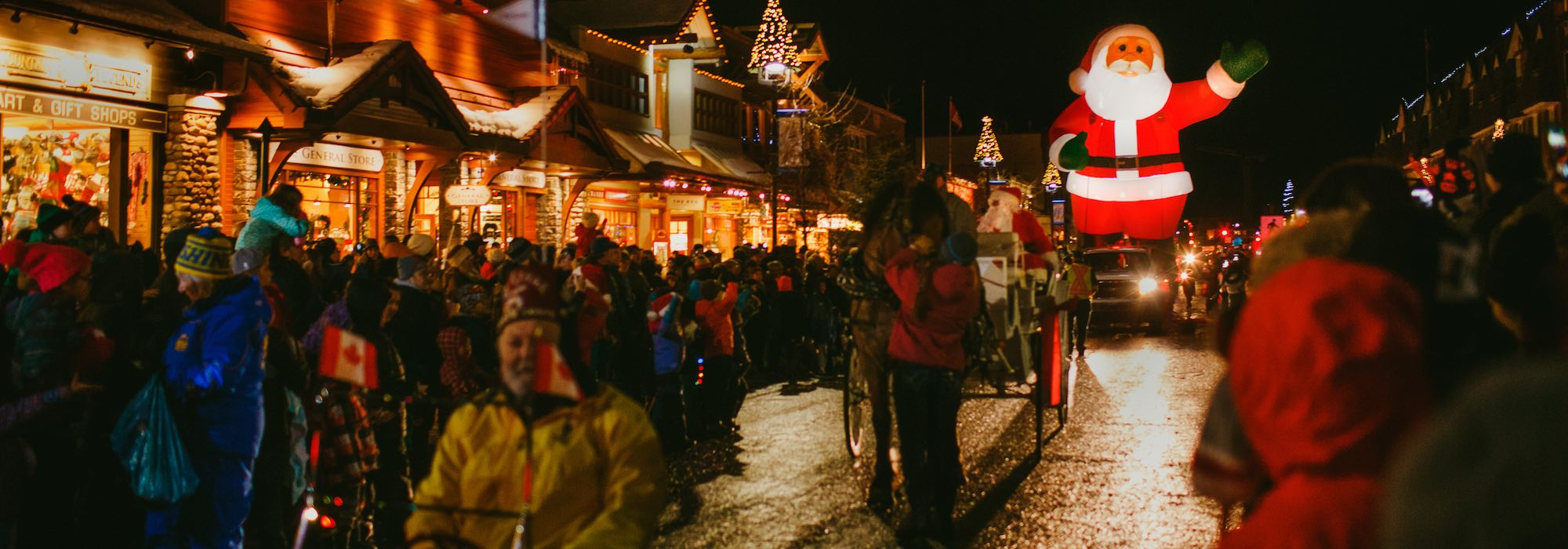 Santa Clause Parade on Banff Avenue, Banff National Park.