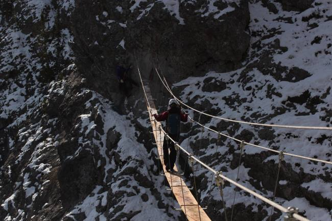 Mt. Norquay, Via Ferrata suspension bridge