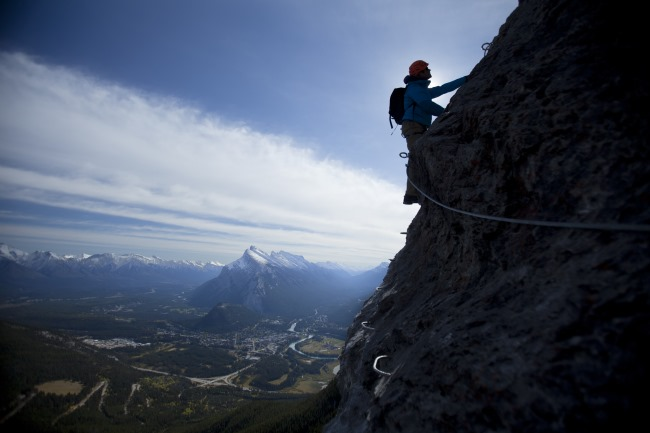 Mt. Norquay, Via Ferrata route