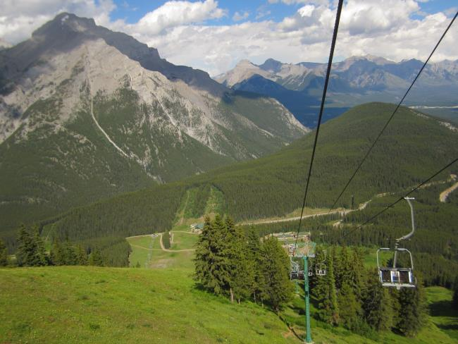 North American Chairlift to the Cliff House, viewing platform and Via Ferrata