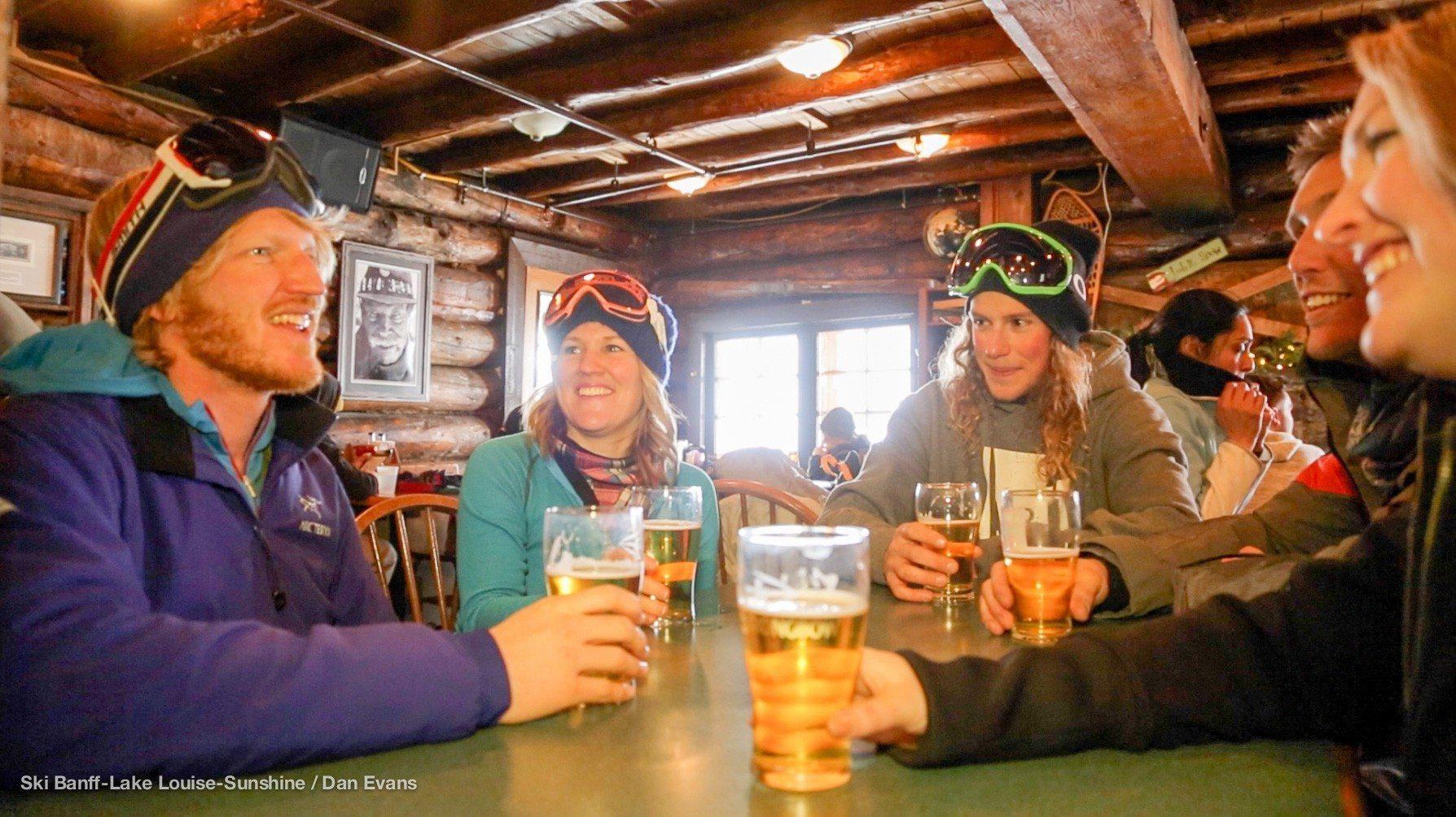 Apres Ski at Banff Lake Louise Sunshine