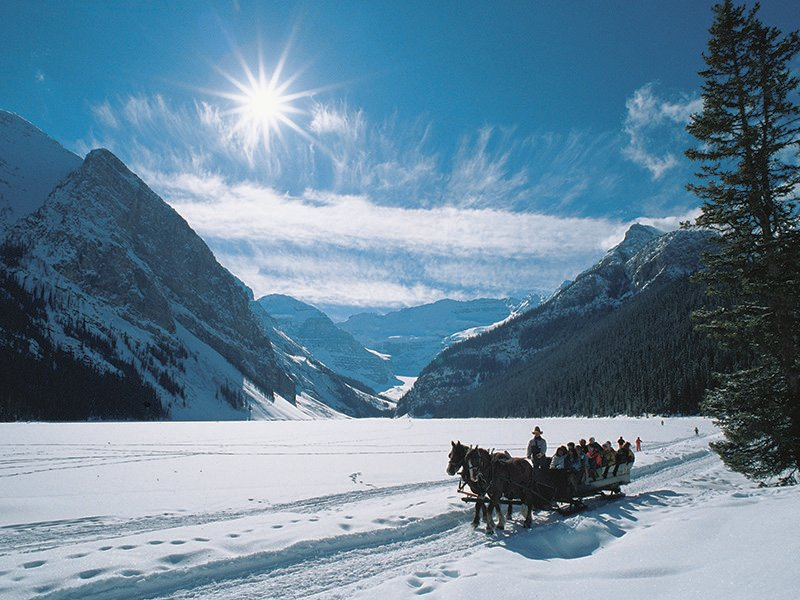 Lake Louise sleigh ride