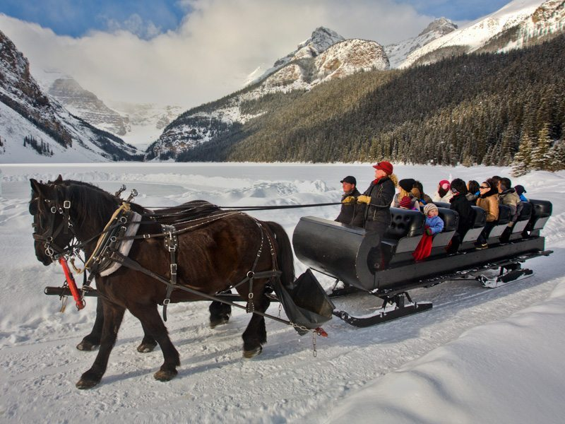 Sleigh Ride in Lake Louise