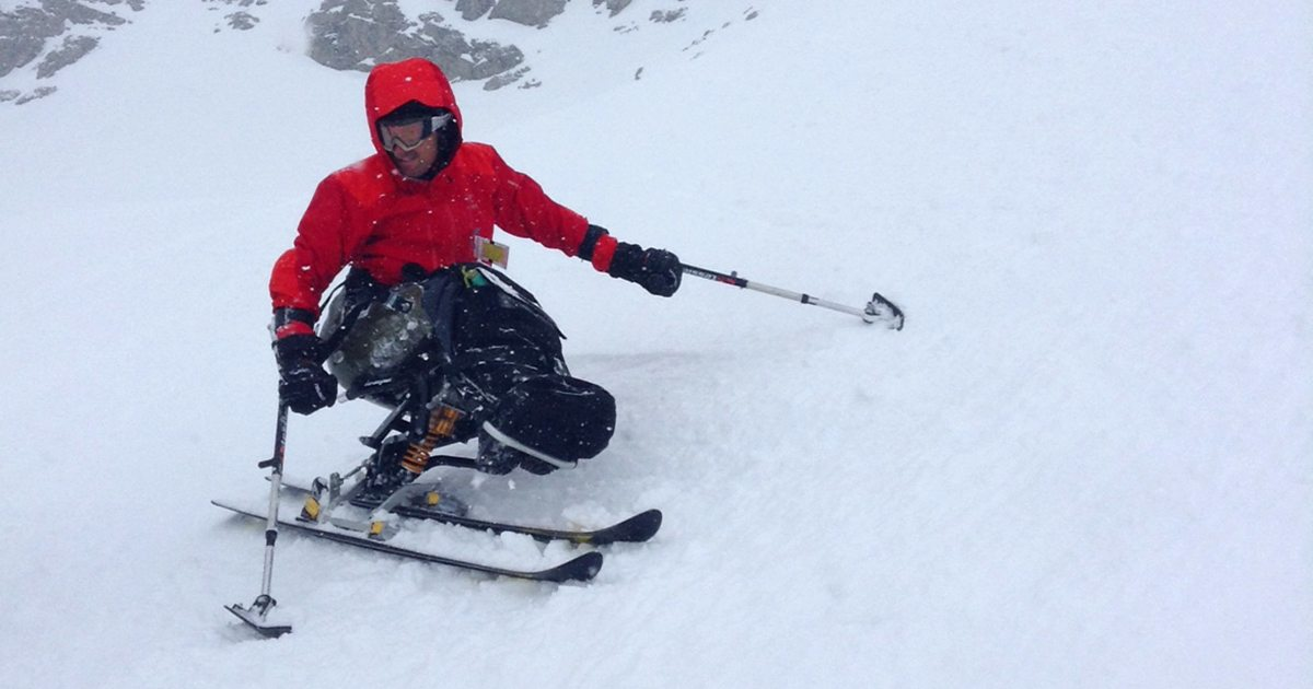 Sit Skiing Delirium Dive At Sunshine Village