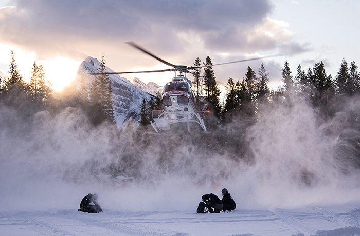 Helicopter landing | Mt Norquay | Dave Jones