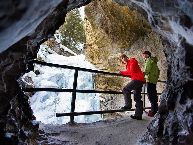 Ice Walk in Johnstons Canyon