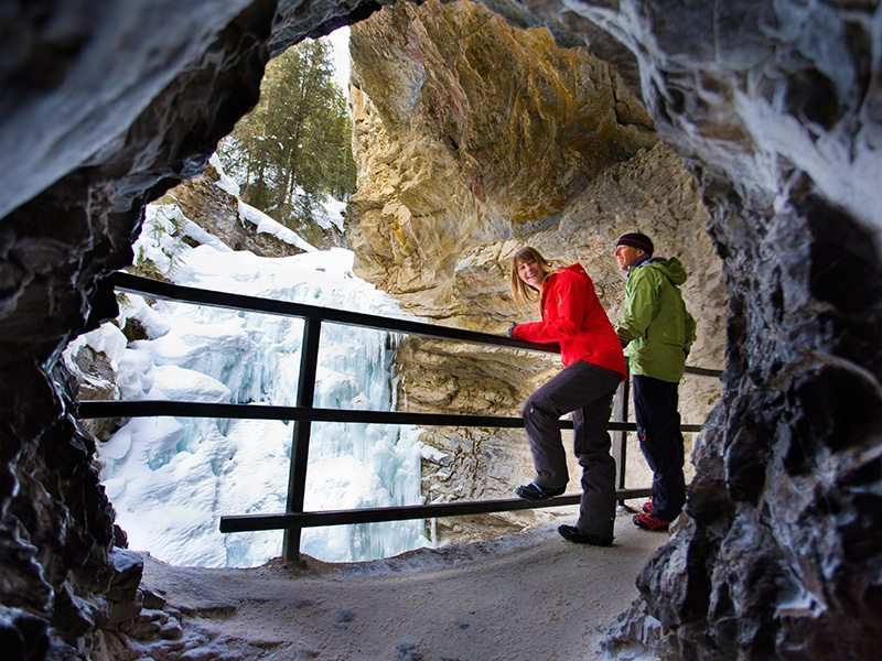 Ice Walking at Johnston Canyon, Banff National Park
