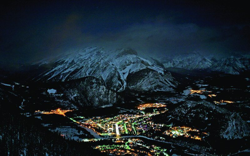 Mt Norquay Banff Night Skiing