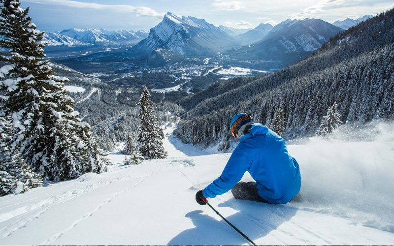 Lone Pine is a popular run at Mt Norquay. Photo: Dan Evans