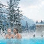 The Banff Upper Hot Springs offers great views for a relaxing soak. Photo: Travel Alberta