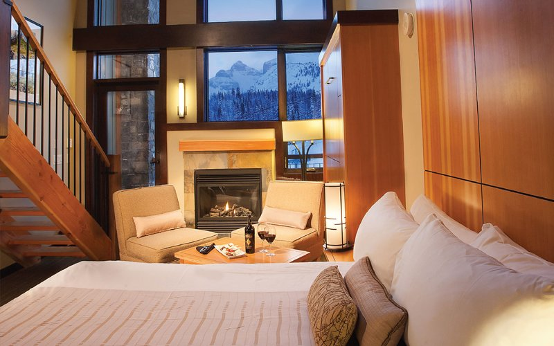 Sunshine Village is home to Banff's only ski-in, ski-out mountain hotel. Photo: Sunshine Mountain Lodge.
