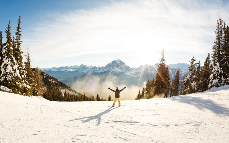 Lake Louise Ski Resort is one of the largest ski resorts in North America. Photo: Mitch Henderson.