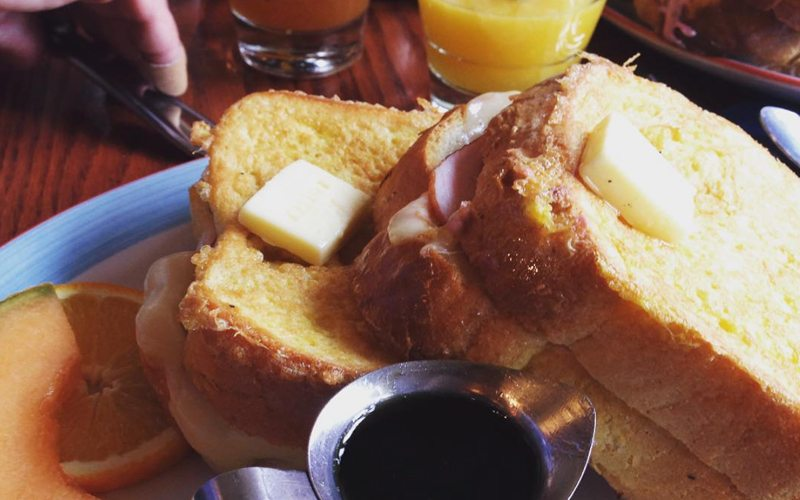 Coyote's stuffed French toast is an attraction in itself! Photo by @salt_water_mermaid_ on Instagram.