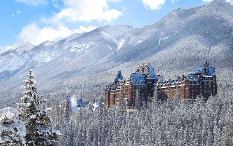 "Canada's famous ""Castle in the Rockies"" Fairmont Banff Springs is a stunning place to stay in Banff National Park. Photo: Banff & Lake Louise Tourism/Fairmont Hotels."