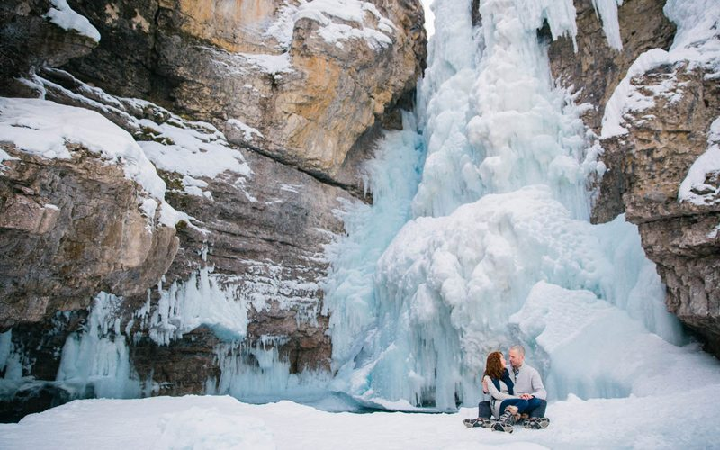 Johnston Canyon is a breathtakingly beautiful place to visit with your loved one in Banff National Park. Photo: GuenardPhotography.com