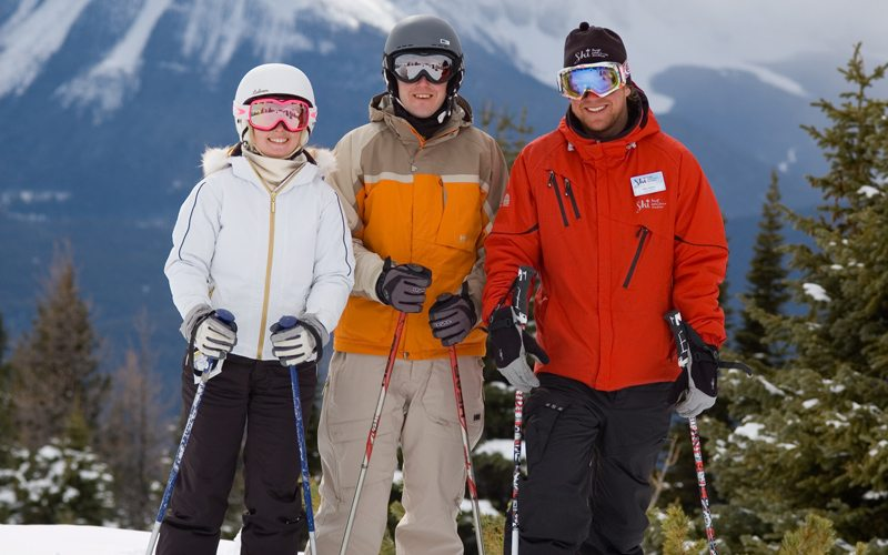 Club Ski lessons will take your vacation to the next level. Photo: Mark Walker at Lake Louise Ski Resort.
