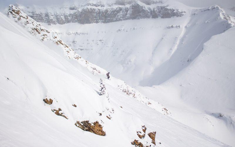 March 6, 2017: Fresh powder and epic views at Lake Louise Ski Resort. Photo: Luke Sudermann.