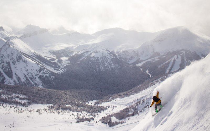 March 6, 2017: Epic views and fresh powder at Lake Louise Ski Resort. Photo: Luke Sudermann.