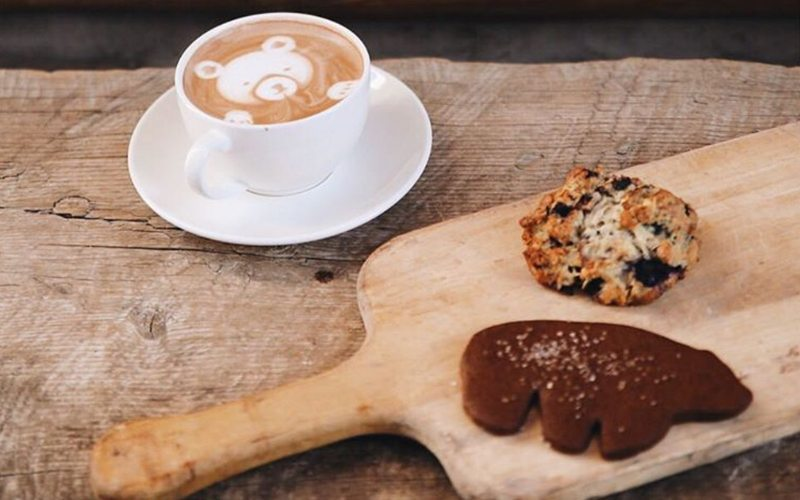 Wild Flour is known for its delicious coffees and treats. Photo via @wildflourbanff on Instagram