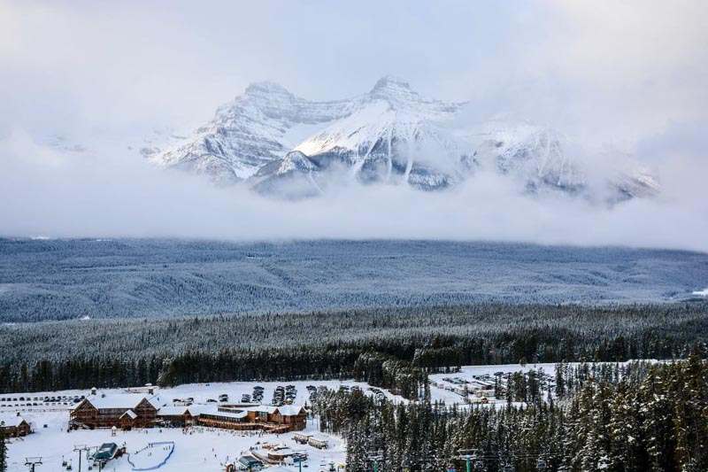 Lake Louise Ski Resort, Banff National Park.