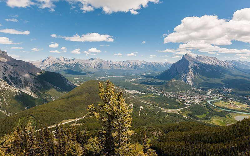 panoramic views of the Bow Valley