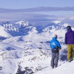 SkiBig3 Guided Adventure group at Banff Sunshine Village, Banff National Park.