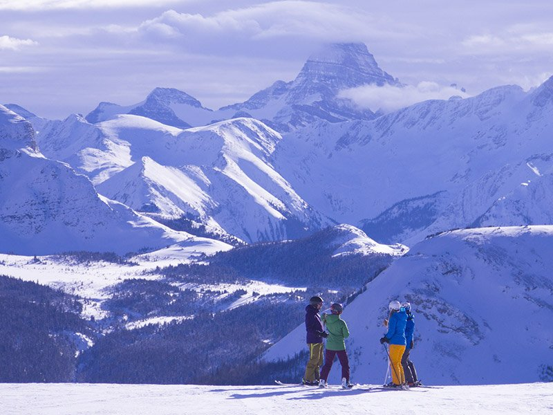 Guided Adventures group at Banff Sunshine Village.