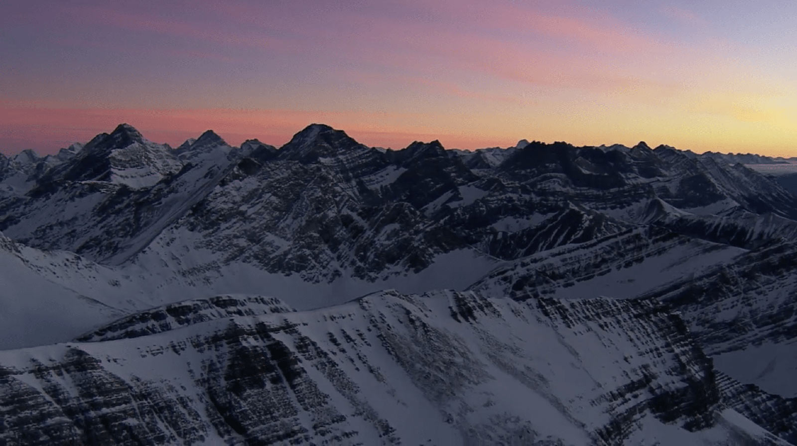 Sunrise over the Canadian Rockies