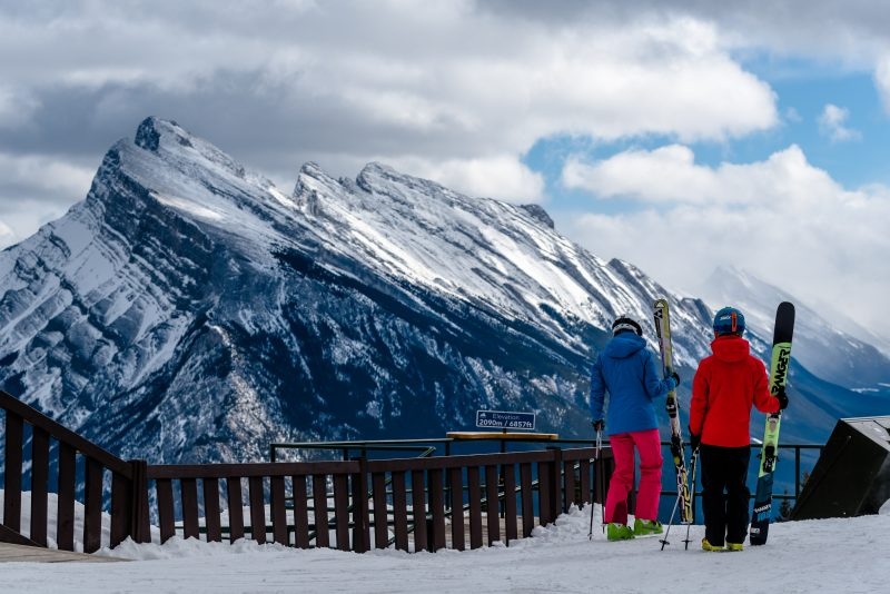 Skiers at Mt. Norquay. Photo by Reuben Krabbe.