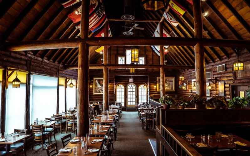 Interior shot of Melissa's Missteak restaurant, Banff, Alberta.