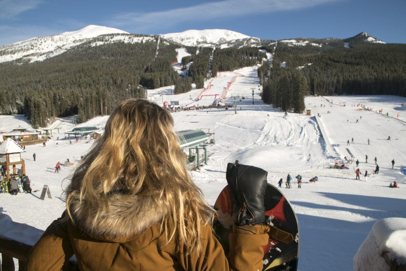 Quincy Davis takes in the action at the Women's Lake Louise Alpine World Cup weekend. Photo by Dan Evans