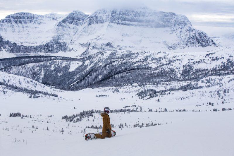Quincy Davis explores Banff Sunshine Village. Photo by Dan Evans.
