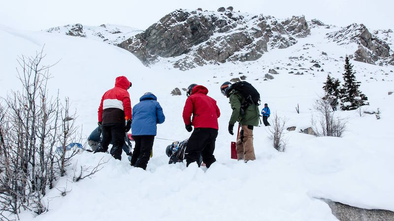 Avalanche training at Lake Louise