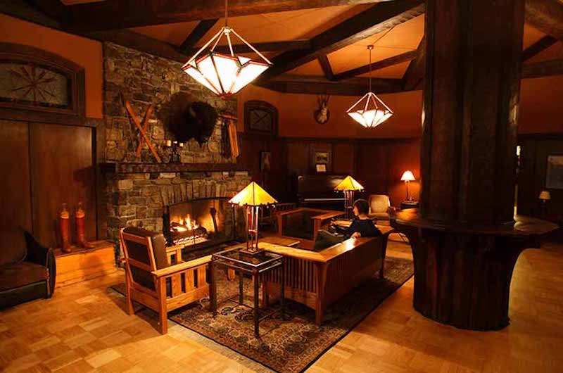 Interior shot of Deer Lodge, Lake Louise, Banff National Park. Photo courtesy of Deer Lodge.