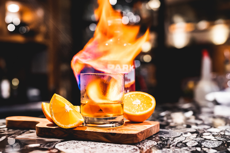 Smoked Maple Sazerac, created by Balkan Restaurant with PARK Distillery Maple Rye.