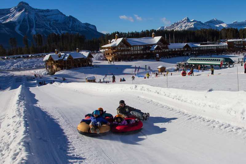 Tubing at Lake Louise Ski Resort