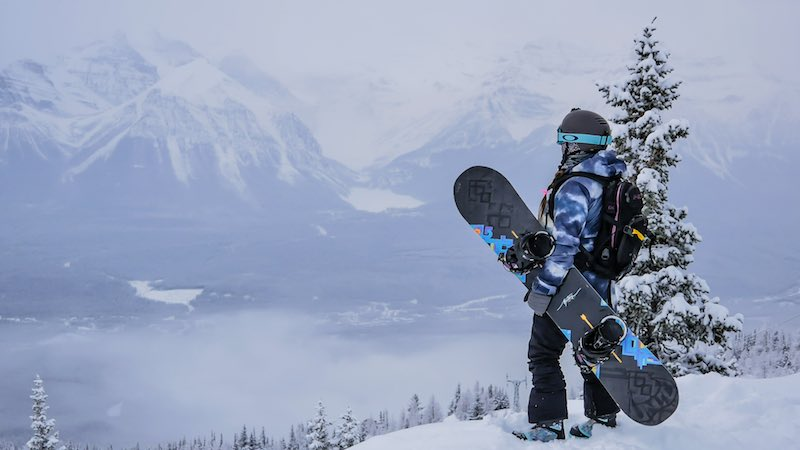 Snowboarder Sue Shih at Lake Louise Ski Resort