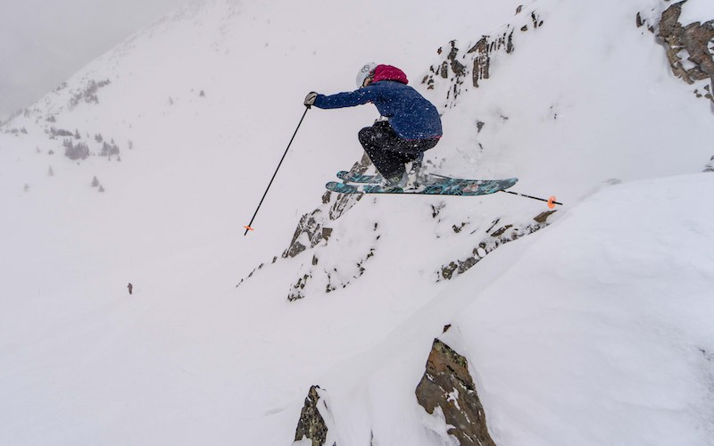 Extreme skiing by Travis Rousseau
