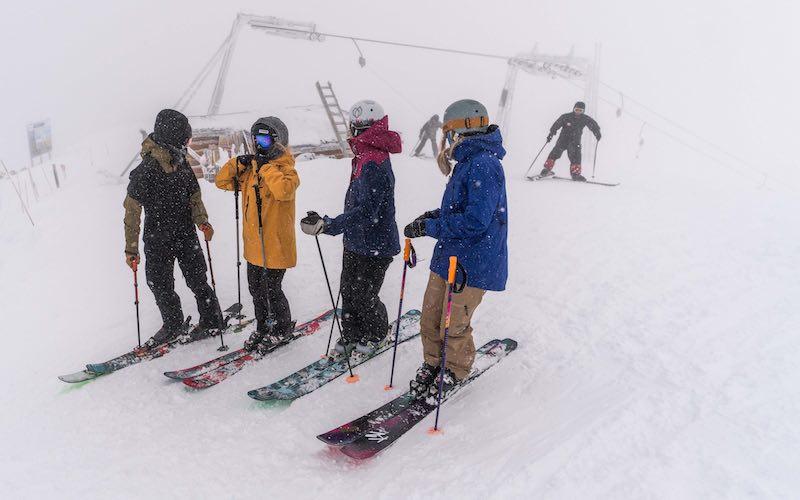 Summit platter skiers at Lake Louise.
