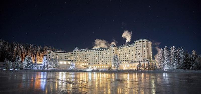 Chateau Lake Louise at Night.