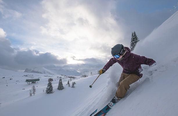 Skier at Sunshine Village