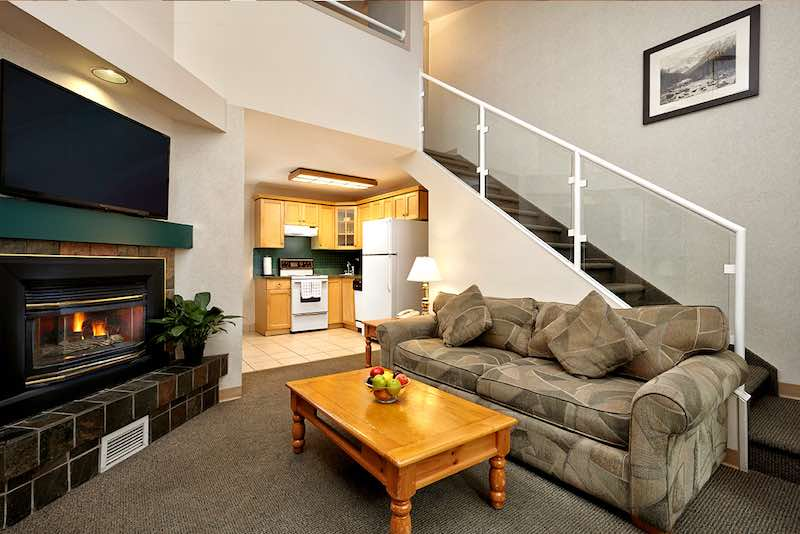 One bedroom condo with loft at the Lake Louise Inn, Lake Louise, Banff National Park.