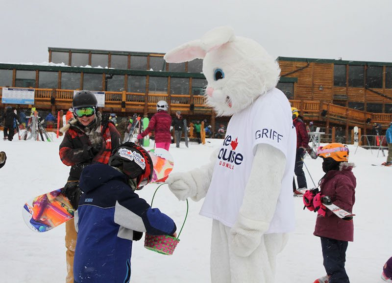 Find the Easter Bunny at Lake Louise Ski Resort