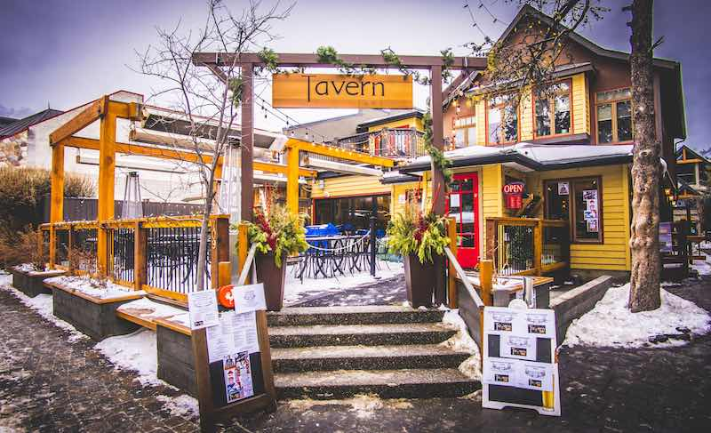 Exterior shot of Tavern 1883, Canmore, Alberta.