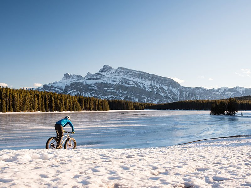 Fat Biking at Two Jack Lake