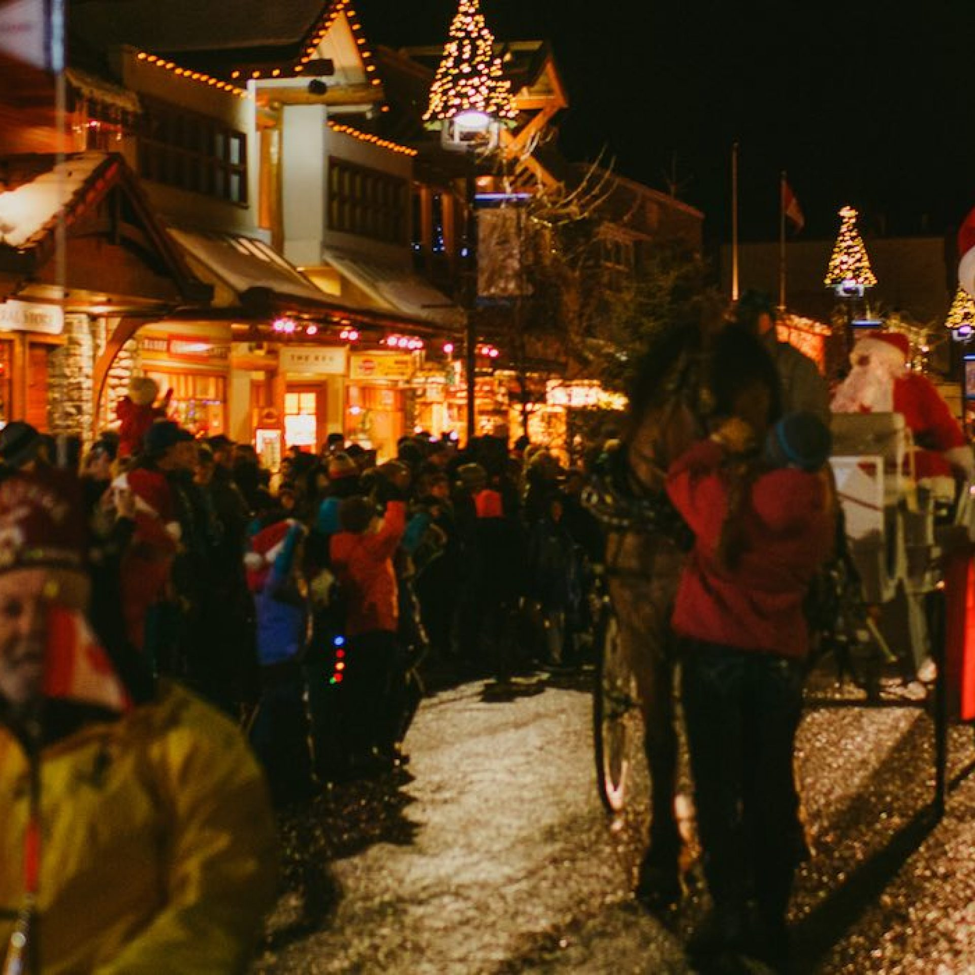 Santa Clause Parade on Banff Avenue, Banff National Park.