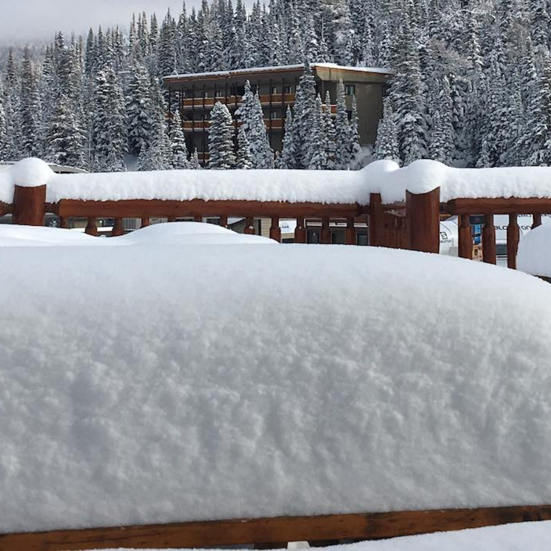 Snow conditions at Banff Sunshine Village on November 16, 2018.