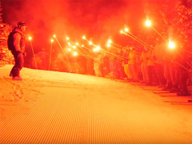 Torch Light Parade | Banff Sunshine Village