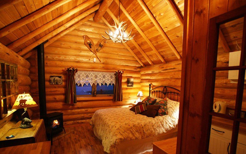 Interior shot of Banff Log Cabin, Banff, Alberta.